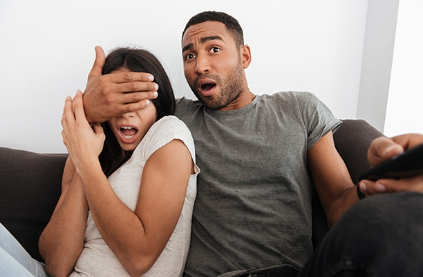 Couple Blocking Eyes from What is on TV | Pure Flix