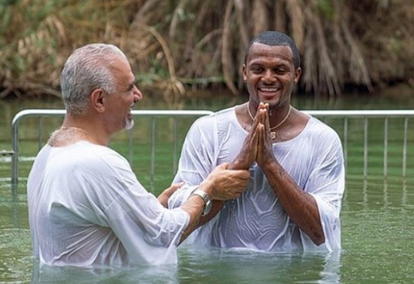 'Life Changing': NFL Star Gets Baptized in the Jordan River
